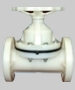 PP Diaphragm Valve Flanged End
